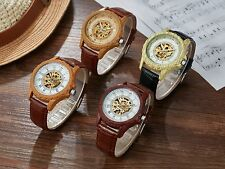 Luxury Leather Wristwatches Automatic Watch Mechanical Watches Roman Dial Mens