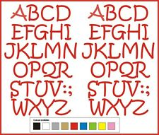 SELF ADHESIVE LETTERS stickers graphics 50mm high vinyl alphabet A-Z Handstyle