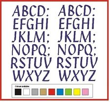 SELF ADHESIVE LETTERS stickers graphics 50mm high vinyl alphabet  A-Z Penstyle