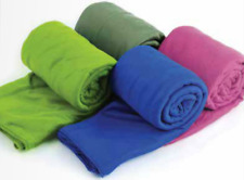 Sea to Summit Pocket Towel in Berry, Cobalt, Eucalyptus, Lime