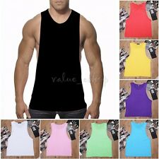Mens T-Shirt TANK Top Muscle Stringer Workout Sleeveless Tee Sport Fitness Vest