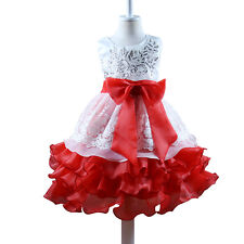 Pageant Flower Girls Dress Kid's Birthday Wedding Party Sequin Gown Dresses