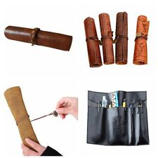 Practical Retro Pencil Pen Case Pirate Treasure Map Imitation Leather Roll Bag