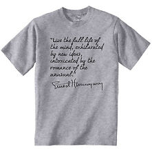 HEMINGWAY ERNEST QUOTE 2 - NEW COTTON GREY GREY TSHIRT