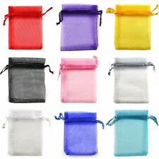 7x9cm Premium ORGANZA Wedding Favour Gift Bags Jewellery Pouches 6 Colours