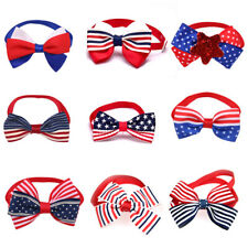 Pet Dog Cat Bowtie for 4th of July /July 4th Adjustable Bow Tie Necktie Collar