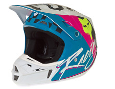 BRAND NEW FOX V2 ROHR TEAL MOTOCROSS HELMET ADULT SMALL 55-56CM -FREE GOGGLES