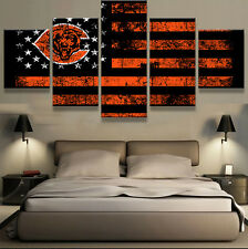 Chicago Bears Sports Abstract Modern Canvas Wall Art Printing Picture Home Decor