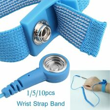 10X Anti Static ESD Wrist Strap Discharge Band Grounding Prevent Static Shock AU