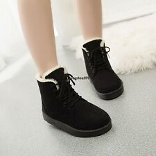 New Fashion Women Round Toe Ankle Boots Shoes Flat With Lace Up Boots OO5501