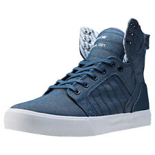 Supra Skytop Mens Trainers Blue New Shoes