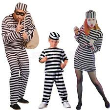 Striped Prison Constume Convict Uniform Halloween Hens Stag Night Fancy Dress