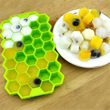 Silicone Ice Cube 37 Hexagon Tray Freeze Mould Bar Pudding Chocolate Mold DIY
