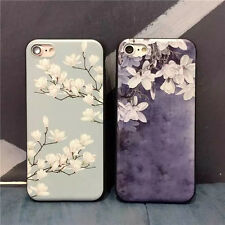 Elegant Flower Rubber Soft TPU Silicone Case Cover for iPhone 6/6s 6p/6sp 7/7p