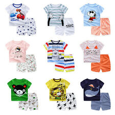 Baby Boy/Girl Summer Cotton Clothing Suit (Shirt+Pants) Infant Kid Clothe Set NT