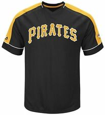 Pittsburgh Pirates Cooperstown Majestic Mens Vintage Hit Jersey Big & Tall Sizes
