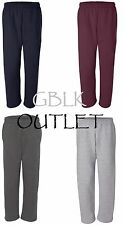 Gildan DryBlend Open Bottom Pocketed Sweatpants 12300 Small