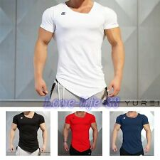 Men's Short Sleeve T-Shirts Gym Bodybuilding Muscle Brothers Slim Sport Jersey
