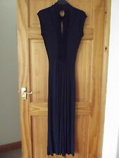 M&S AUTOGRAPH EXCLUSIVE BEAUTIFUL LONG NAVY DRESS SIZE 8 NEW WITH TAGS