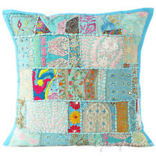 """20"""" Blue Patchwork Sofa Throw Pillow Cushion Cover Couch Boho Indian Bohemian"""