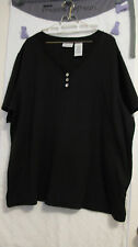 White Stag Tops Black or Red Size 22W/24W Excellent Preowned