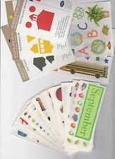 Creative Memories SCHOOL Sticker Sheets and Die Cuts - You Choose