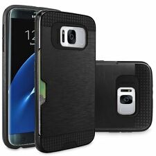 New Luxury Hybrid Case Cover with Credit Card Slot For Samsung Galaxy S8, S8+
