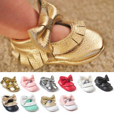 Toddler Infant Baby Bowknot Tassel Boots Newborn Soft Sole Shoes Leather Shoes