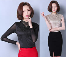 Hot Fashion Womens Shirt long sleeve Elegant Blouse Sweet tops Attractive lovely