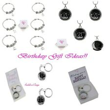 Personalised Birthday Gift Ideas Bracelets/Keyrings/Lockets/Charms Gift Boxed