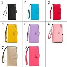 Hot Women Buckle Faux Leather Card Holder Clutch Wallet Phone Bag Long Purse Bag