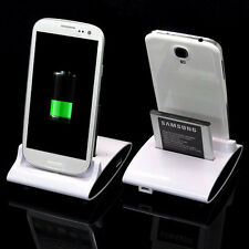 Dual Cradle Battery Charger Dock+holder For Samsung Galaxy S3 I9300 S4 i9500