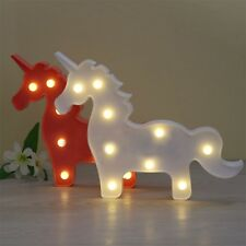 Cute Marquee Child LED Night Light Bedroom Unicorn Home Decor Battery Wall Lamp