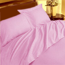 Pink Striped Extra Deep Pocket 4 PC Sheet Set 1000 Thread Count Egyptian Cotton