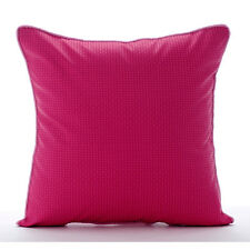 Pink Pulp - Pink Faux Leather 35x35 cm Decorative Cushion Covers