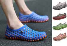 Men Breathable Sandals Casual Shoes Beach Flats Summer Slip on Water Shoes Soft