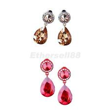 Luxury Crystal Teardrop Dangle Earrings Wedding Bridal Fashion Bridal Jewelry