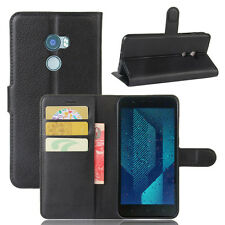 Litchi Leather slot wallet stand flip Phone Cover Skin Case NEW For HTC ONE X10