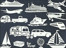 LOT 4-24 PC SUB-SETS TRAVEL DIE CUTS* CRUISE TRAILER TRAIN PLANE BOAT SUV  READ
