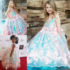Pageant Flower Girl Dress Bridesmaid Party Dress Formal Birthday Wedding Gowns