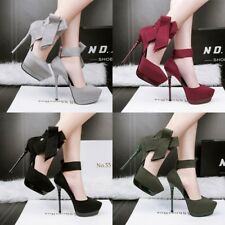 Big Bowknot High Heel Ankle Strap Stiletto Ankle Strap Platform New Womens Shoes