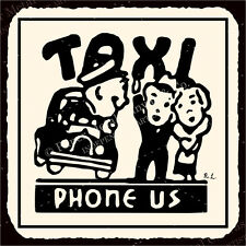 (VMA-G-1049) Taxi Phone Us Vintage Metal Art Automotive Retro Tin Sign