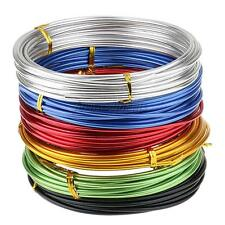 6pcs Assorted Color Aluminum Wire Beading Jewelry Craft Findings Modelling 5m