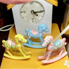 12pcs Mini Rocking Horse Cake Topper Kids Toys Baby Shower Party Decoration