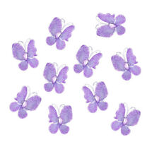50pcs Wired Mesh Stocking Butterfly with Glitter Gems Wedding Craft Decoration