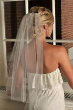 Elbow Bridal veil Wedding accessories white ivory 1 tier soft tulle with comb