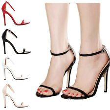 New Women's Pumps Buckle Ankle Strap Stiletto High Heels Peep Toe Party Shoes G