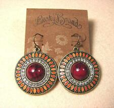 LUCKY BRAND GEMSTONE CRYSTAL WOMEN'S PARTY PUNK GIFT VINTAGE GOLD HOOK EARRINGS