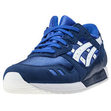 Asics Onitsuka Tiger Gel-lyte Iii Gs Kids Trainers Blue White New Shoes