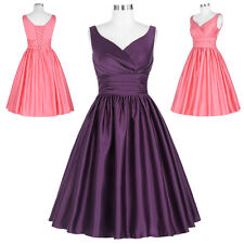 Vintage 1950s 60S Sleeveless Cocktail Housewife Dress Swing Party PINUP Dresses
